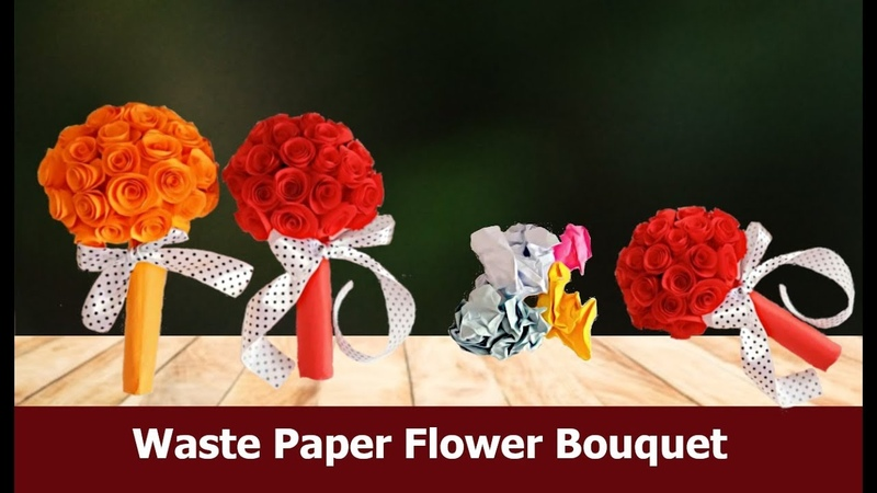 Handcraft flowerbouquet Flowers EASY FLOWER BOUQUET Papercraft Aloha Crafts