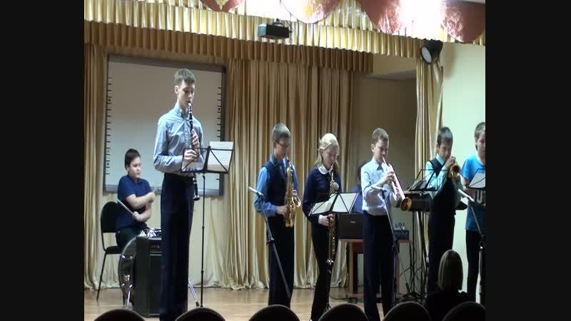 Детский духовой оркестр г.Красновишерск Спят курганы тёмные