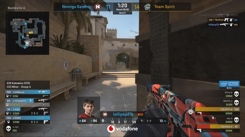 CIS Minor: lollipop21k - 3 AK kills (2 HS) vs Team Spirit