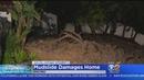 Mudslide Damages Encino Home Threatens 14 More