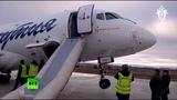 В Якутске самолёт выкатился за пределы ВПП видео с места происшествия