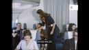 1970s Flight Cabin Crew Serve Champagne to Plane Passengers HD