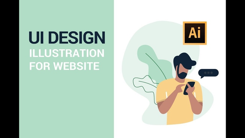 Adobe Illustrator Tutorial - UI Design Illustration for Website (2019)