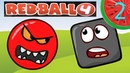 #2 КРАСНЫЙ ШАРИК против чёрного квадрата. Зеленые Холмы. Мультик ИГРА Red Ball 4 на ArbuZ Games TV