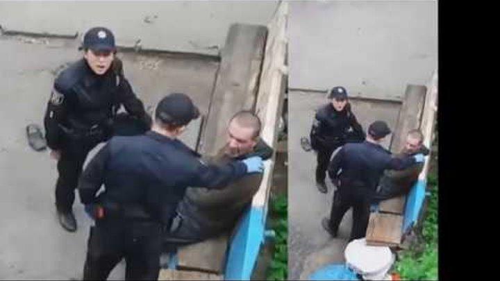 Посмотрите как ведут себя полицаи когда их не видят май2018