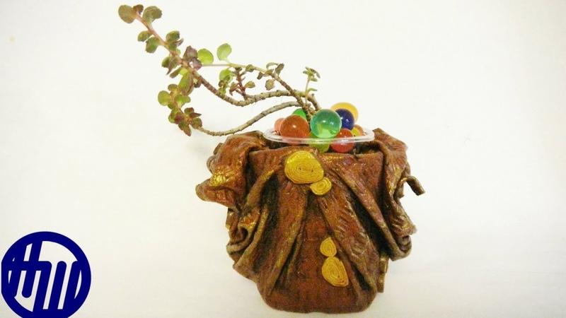 Как сделать маленькую вазочку из кожи Мастр класс DIY Vase of leather O vaso de pele
