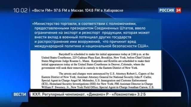Новости на Россия 24 Охота на россиян в США Карпенко и Крутилину грозит 25 лет тюрьмы и штраф в миллион долларов
