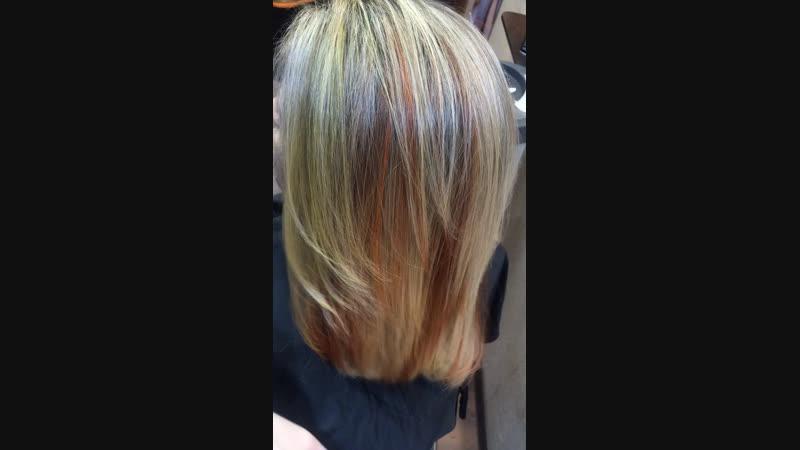 Рассветление волос, яркие пряди