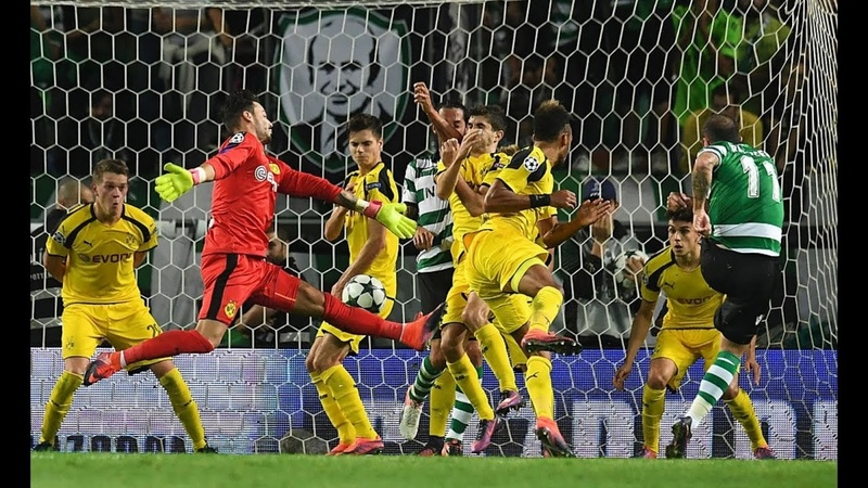 Gol de Bruno César - Sporting 1 x 2 Borussia Dortmund - Champions League (18/10/2016)