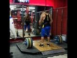 Подъём штанги 130 кг на грудь в стойку на 3 раза. Power Clean 130 kg