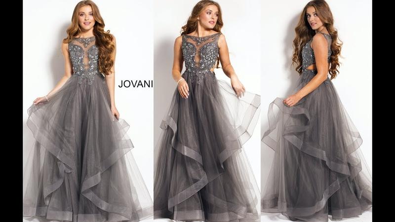 JOVANI 48739 CHARCOAL
