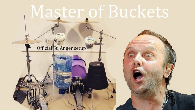 Master of Puppets but the drums are buckets