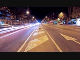 Ночной трафик в городе Night traffic in a city