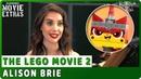 THE LEGO MOVIE 2 On studio Interview with Alison Brie Unikitty Ultrakatty