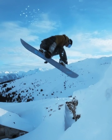 Textbook butter cab 540 off a drop in LAAX Switzerland