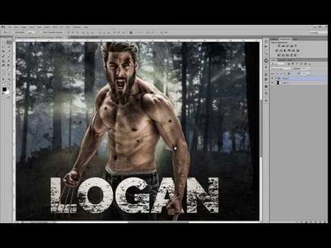 How to make a Wolverine Logan Before After Retouching in Adobe Photoshop