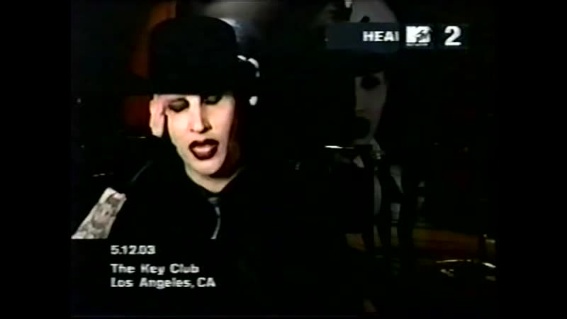 Marilyn Manson MTV2 Headbangers Interview 2003