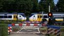 Spoorwegovergang Santpoort Zuid Dutch railroad crossing