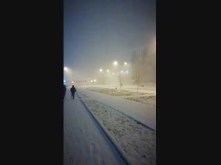 Снежная гроза в Иванове.
