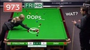 Ronnie O'Sullivan Century Break 973 Incredible Clearance and The Ref Touched The Red