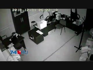 Момент взрыва попал на видео