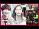 《 KPOP IDOLS 》PROTECTING l HELPING AND TAKING CARE OF FANS - BTS BLACKPINK iKON TWICE GOT7 REDVELVET