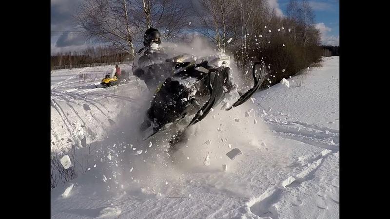Покатушки на снегоходах! Yamaha Nytro, Yamaha Venture LYNX BoonDocker Lynx Adventure Ski DooTundra