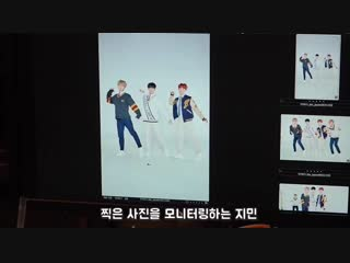Taehyung is not in this unit for the photoshoot - - Did he really have to! x3 He KEEPS coming out. x2 He must have wanted to tak