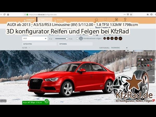 AUDI ab 2013 - A3S3RS3 Limousine (8V) 5112.00 - 1.8 TFSI 132kW 1798ccm - bei KfzRad.de