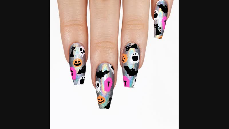 Wanted something different, holo, and fun 🎃💀⚰️👻🦇🐱