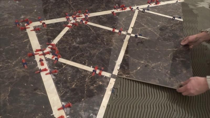 Сложная укладка ковра.Complex laying carpet.
