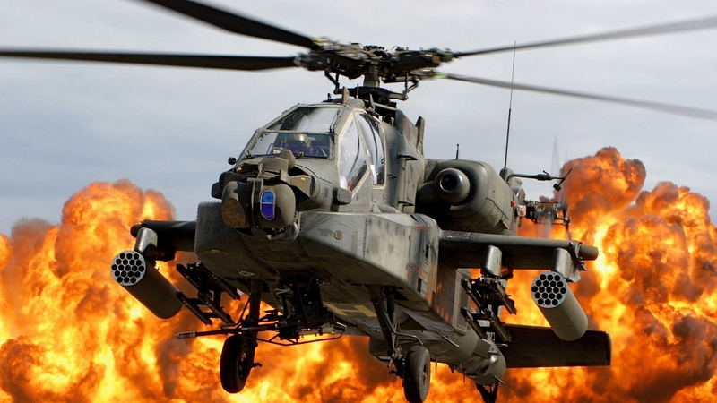 Advanced AH-64 Apache Attack Helicopter In Action - Close Air Support During Exercises