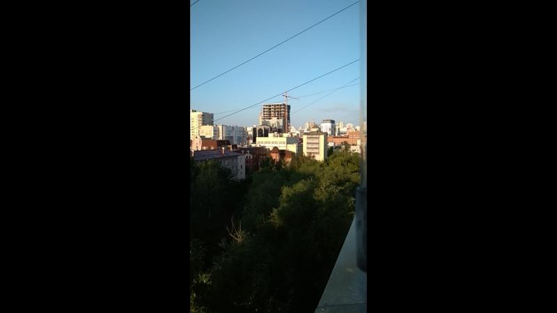 Доброе утро из Екатеринбурга. Город просыпается.