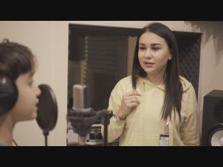 Финалисты конкурса «Я люблю тебя, Россия! Дети» в студии звукозаписи