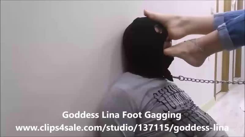 Goddess Lina Foot Gagging.mp4