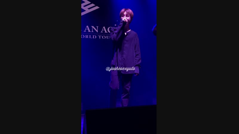 FANCAM   30.11.18   Donghun (singing Thinking Out Loud ) @ Fan-con To Be An ACE in SF