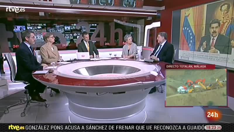 Telediario X-23-1-19 taxis, Julen, Venezuela Guaidó, Sánchez Davos, temporal, final Noche 24h y Tarde 18h 25-1 vlc-record-2019-0