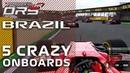 5 Crazy Onboards Brazilian GP   DRS F1 Championship