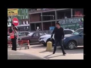 Файт на парковке Ультры