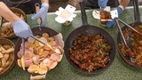 Asian Street Food from Far East seen in Kiev, Ukraine
