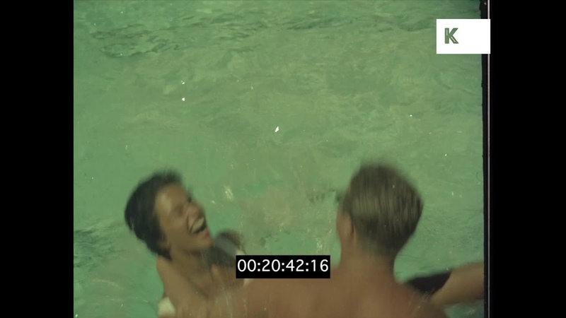 Luxury Hotel Swimming Pool, 1960s Rio de Janeiro, HD