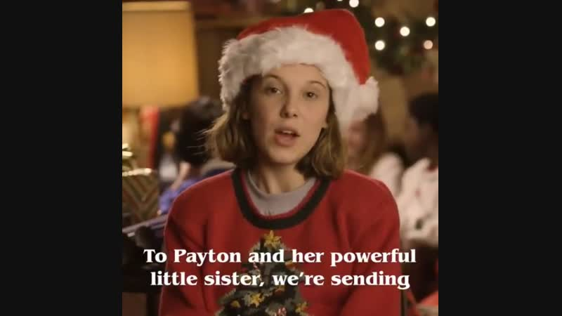 Millie Bobby Brown | Christmas message for Payton