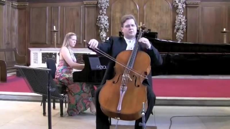 Orfeo Mandozzi Cello Caroline Clipsham Piano Bach Marcello Adagio BWV 974 St. Pa