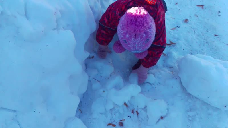 Чистим снег 1
