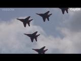 Выступления военной авиации на юбилее энгельсской авиабазы