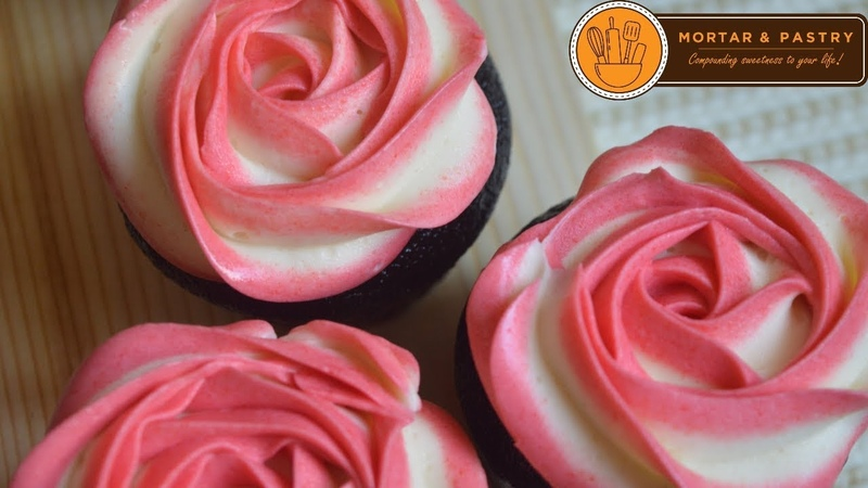 TWO TONE ROSETTE BUTTERCREAM   Ep. 31   Mortar and Pastry