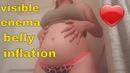 Belly Inflation visible Enema Shower not asmr