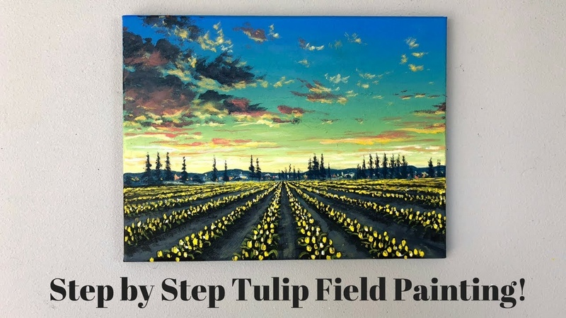 ColorByFeliks Field of Tulips Step by Step Painting Tutorial