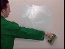 Elastrong Paint Gum Oikos. Нанесение эластичного матового покрытия штукатурки.