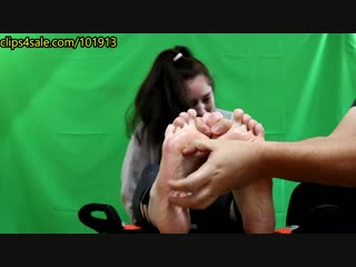 Random Sole Encounters Tough Tomboy Takes Tickle Challenge